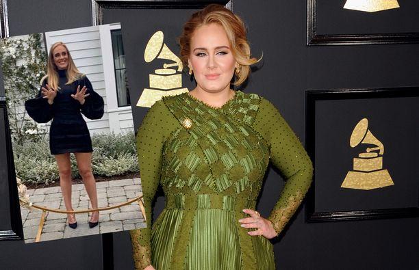 Julkisuudesta tutut tähdet pudottivat tänä vuonna painoaan. Yksi heistä oli Adele.