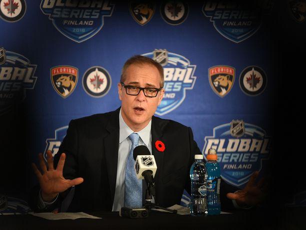 Winnipeg Jetsiä valmentava Paul Maurice on huumoriveikko.