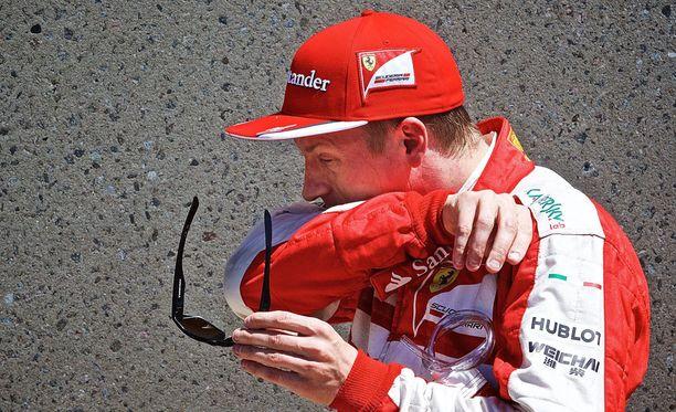 Kimi Räikkösen mukaan renkaat eivät aiheuttaneet kohtalokasta spinnausta.