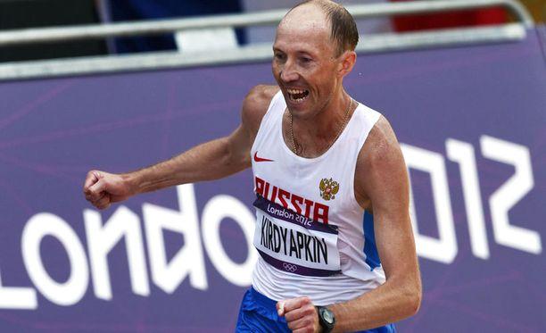 Sergei Kirdjapkin voitti 50 km kultaa Lontoon olympialaisissa.