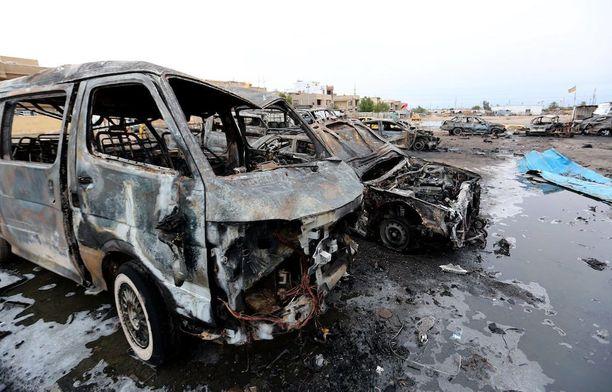 Kuva helmikuun pommi-iskun jälkeen Bagdadista.