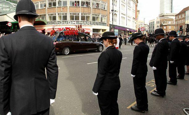 Britannian parlamenttia hyökkääjältä puolustanut Keith Palmer sai näyttävät hautajaiset huhtikuussa.