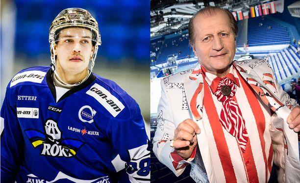 28-vuotias Juhani Tamminen on Mestis-tykki, 66-vuotias Juhani Tamminen kiekkokommentaattori.