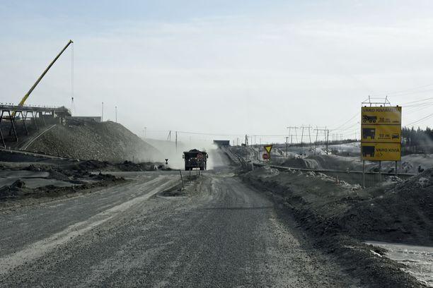 Terrafamen kaivosaluetta Sotkamossa.