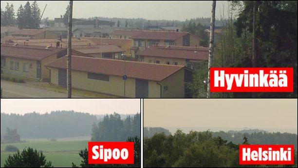 Etelä-Suomessa taivas oli sumuinen monilla paikkakunnilla.