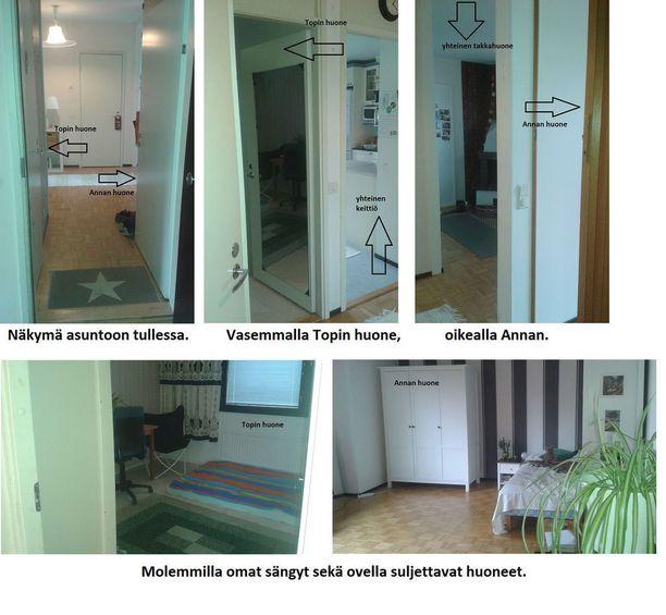 Rantanen ja Laitinen kertoivat myös, että heillä on omat ovella suljettavat huoneet sekä omat sängyt.