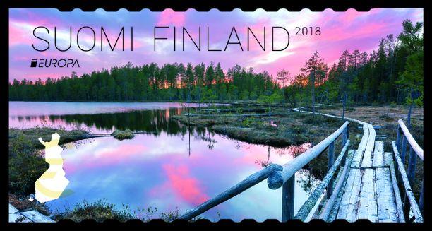 Juha Härkönen ikuisti tämän postimerkkiin asti päättyneen upean kuvan Suomussalmella.