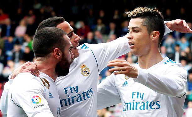 Cristiano Ronaldo on hyvässä iskussa.