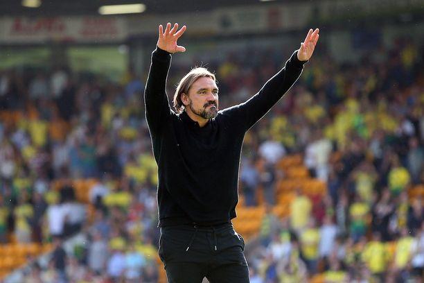 Norwich Cityn manageri Daniel Farke pääsi tuulettamaan ensimmäistä Valioliiga-voittoaan lauantaina.