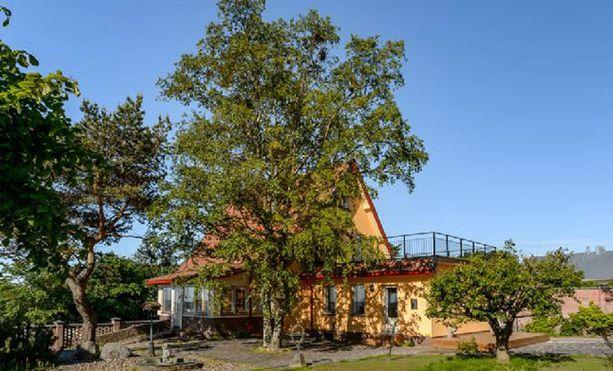 Puutarha ja puusto sen kertovat. Tämä talo on sijainnut samalla paikalla jo kauan.