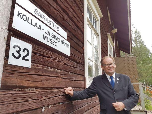 Kollaa ja Simo Häyhä -museon johtaja Reijo Sinkkonen oli ällistynyt, kun Simo Häyhän päiväkirja ilmestyi hänen käsiinsä näyttelyä varten.