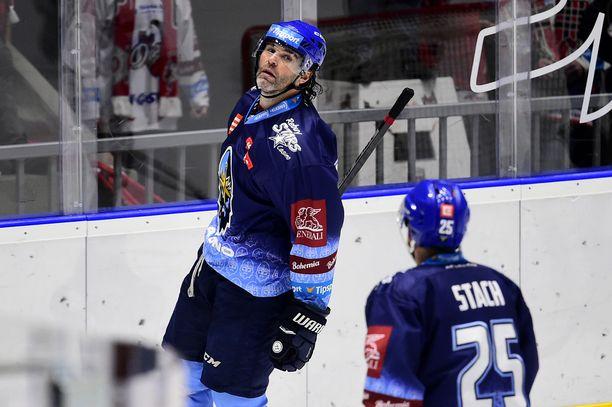 Jaromir Jagr teki pudotuspelien 16 ottelussa 10 (2+8) tehopistettä. Arkistokuva.