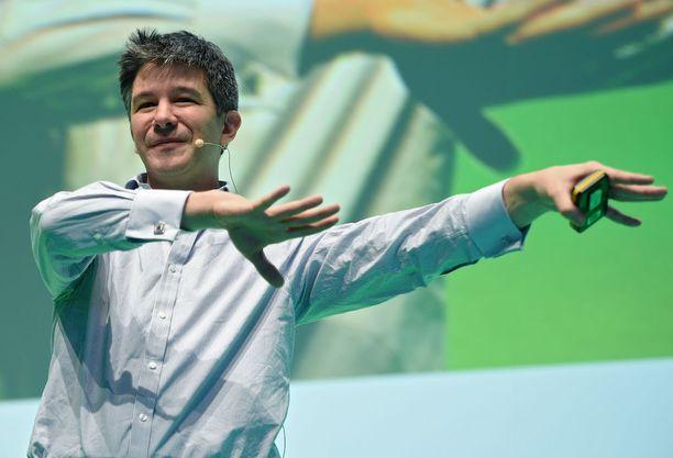 Travis Kalanick on toinen Uberin perustajista.
