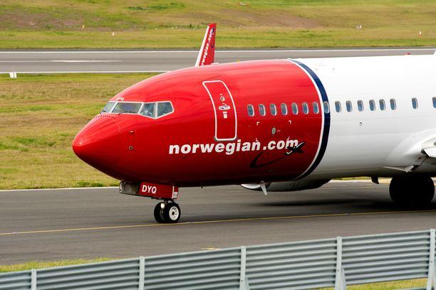 Lentoyhtiö Norwegianin taloustilanne on koetuksella. Kuvituskuva.