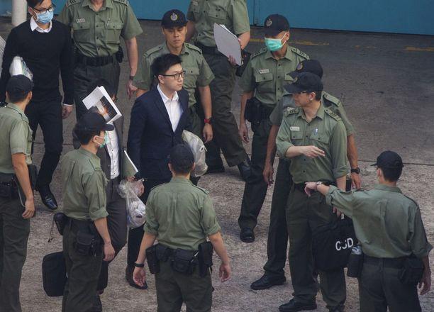 Edward Leung lähti maanantaina tuomittavaksi vankilasta, jossa hän on viettänyt jo puolisen vuotta.