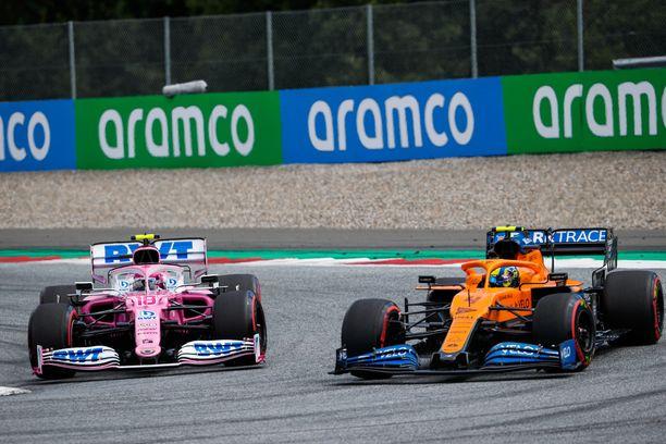 McLaren-leiriä Racing Pointin sanktio ei miellyttänyt.