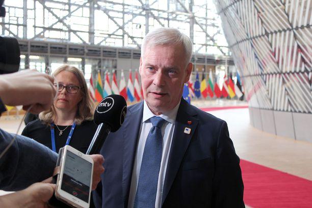 Pääministeri Antti Rinne Eurooppa-neuvostossa Brysselissä torstaina 20. kesäkuuta 2019.