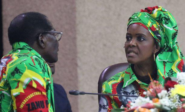 Grace Mugabea epäillään pahoinpitelystä.