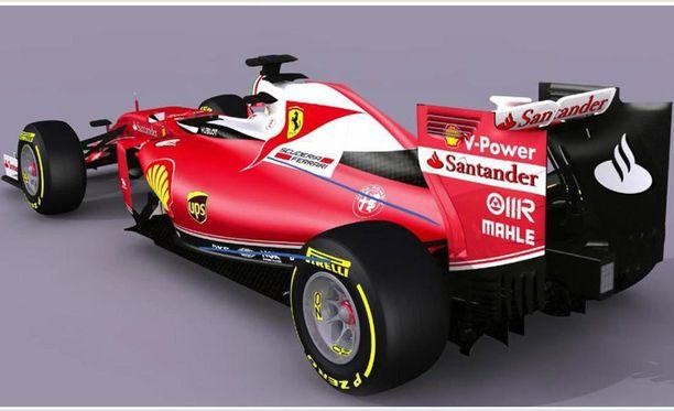 Ferrarin väritys meni uusiksi.
