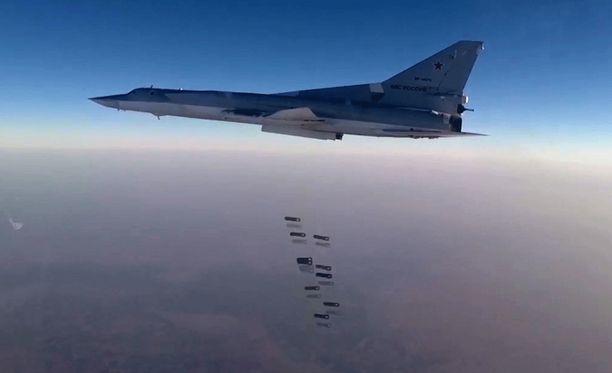 Venäjä pommitti Syyriaa 14. elokuuta.