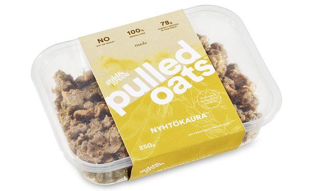 Nyhtökaura valmistetaan kaurasta, härkäpavusta ja keltaherneestä. Sitä voi käyttää lihan tavoin.