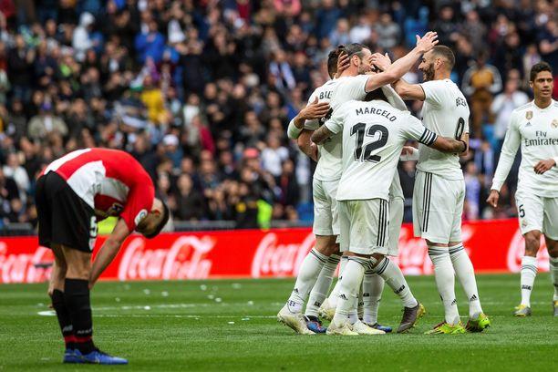 Karim Benzema juhli hattutemppua.