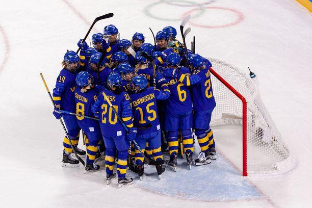 Ruotsin joukkue Korean olympialaisissa vuonna 2018.