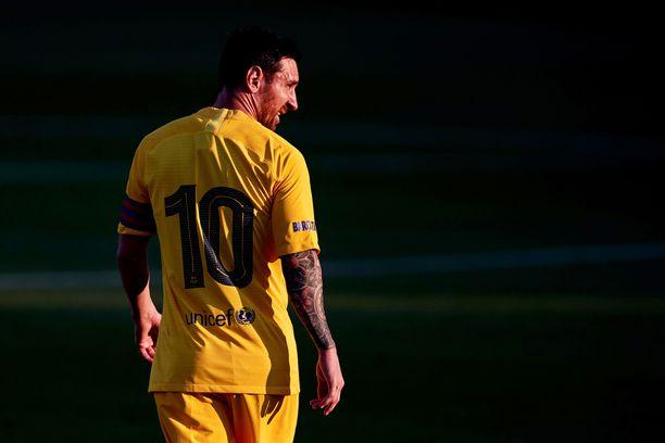 Lionel Messi palasi Barcelonan paitaan viikonloppuna harjoitusottelussa.