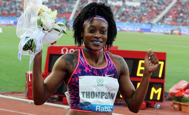 Elaine Thompson otti omansa naisten 100 metrin kisassa.