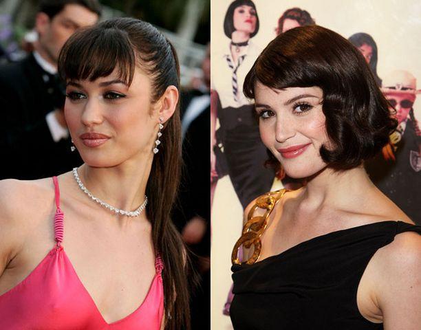 Tulevan Bondin naistähtinä nähdään kaksi kuumaa brunettea. Varsinainen Bond-tyttö on 28-vuotias Olga Kurylenko (vas.). Gemma Artertonilla, 21, on pienempi rooli elokuvassa.