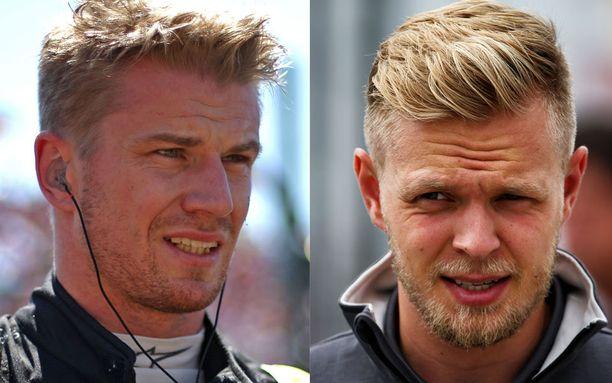 Nico Hülkenbergin (vas.) ja Kevin Magnussenin läpänheitto vain yltyy härskimmäksi.