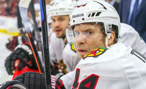Kimmo Timonen tavoittelee Chicagon riveissä uransa ensimmäistä Stanley cupia.
