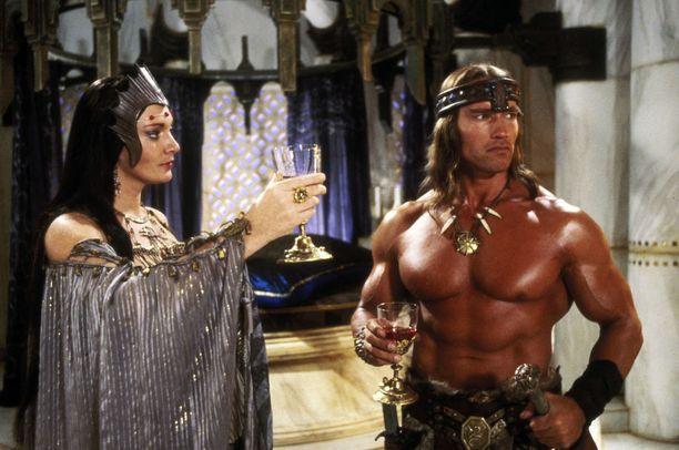 Conanin kelpasi esitellä lihaksiaan vuonna 1984.