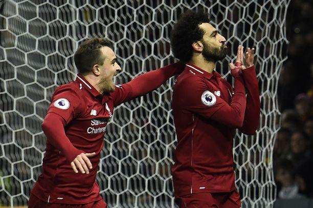 Mohamed Salah iski Liverpoolin voittomaalin.