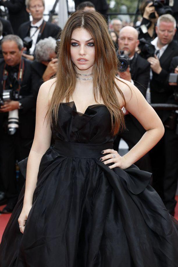 """""""Maailman kaunein tyttö"""" Thylane Blondeau Cannesin elokuvajuhlilla."""