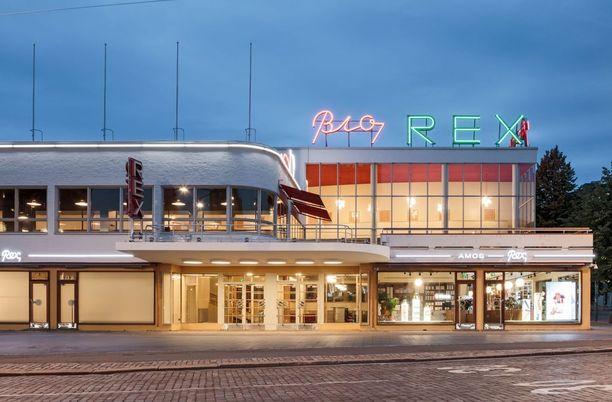 Perinteikäs Bio Rex -elokuvateatteri toimii osana museota.