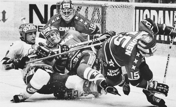 Hannu Lassila niitti mainetta muun muassa HIFK:n maalilla 70–80-luvun vaihteessa.