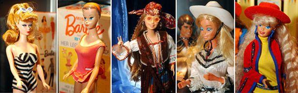 Kuvan Barbiet ovat Münchenin parin vuoden takaisesta Barbie-näyttelystä.