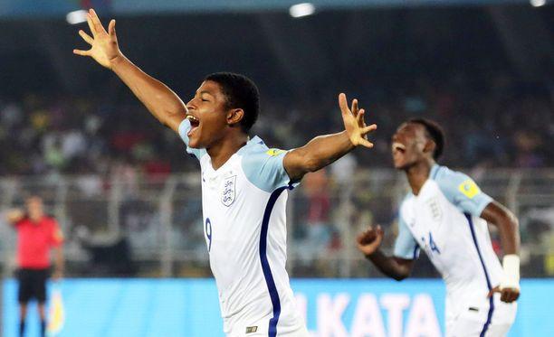 Rhian Brewster oli viime vuonna pelattujen alle 17-vuotiaiden MM-kisojen paras maalintekijä.