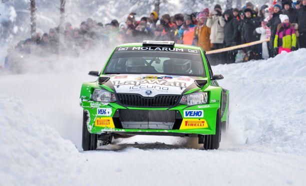Eerik Pietarinen ajoi ylivoimaiseen voittoon Rovaniemellä.