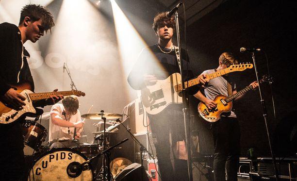 Norrköpingin keikka jäi bändi ainokaiseksi keikaksi ulkomailla. Kuva Lontoon keikalta 29. tammikuuta 2016.