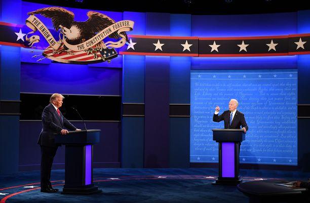 Donald Trump ja Joe Biden kohtasivat viimeisessä vaaliväittelyssään Tennesseen osavaltiossa.