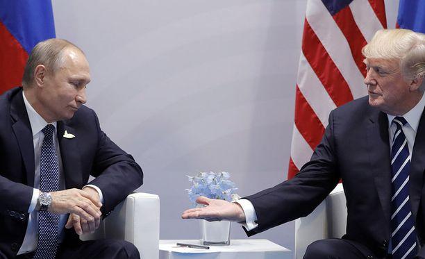 Donald Trump tapasi Venäjän presidentin Vladimir Putinin Saksan Hampurissa järjestetyn G20-kokouksen yhteydessä.