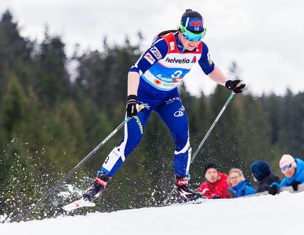 Krista Pärmäkoski ei selviytynyt 12 parhaan joukkoon Quebecin sprintissä.