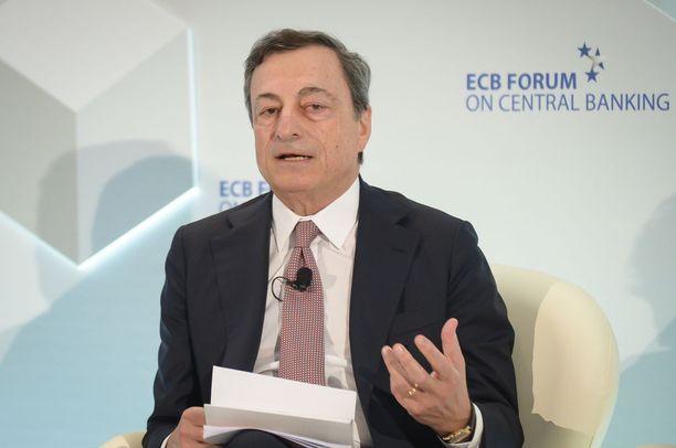 EKP:n pääjohtaja Mario Draghi 2017.