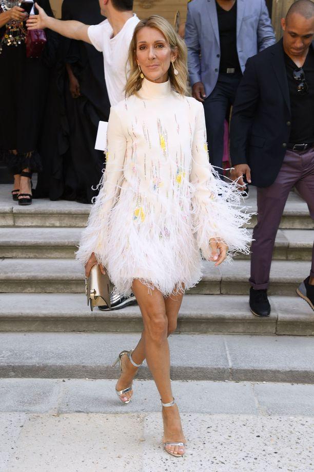 Celine Dion on paistatellut viime aikoina parrasvaloissa ja katutyylikuvaajat ovat bonganneet laulajatähteä tiuhaan tahtiin.