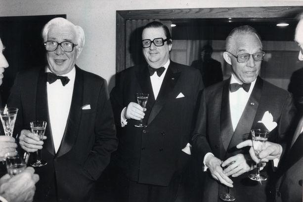 Arkistokuvassa vuodelta 1988 Jaakko Lassila, Aatos Erkko ja Mika Tiivola.