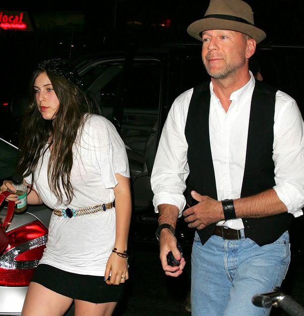 Scoutin isä on Bruce Willis. Kuva muutaman vuoden takaa.