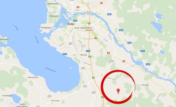 Tapaus sattui Neitsytkorventiellä Metsokankaalla.