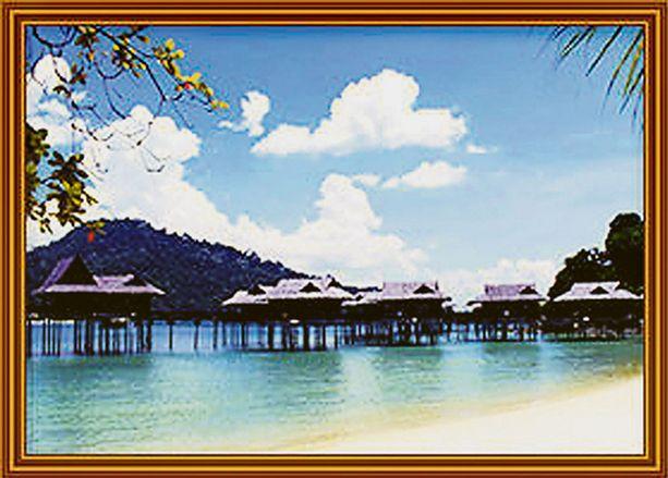 Kalliit kartanot ja huvilat takaavat Pangkor Lautissa kuherteleville yksityisyyttä.